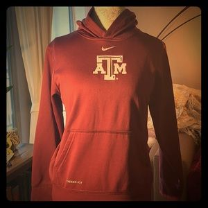 NIKE Maroon Texas A&M hooded sweatshirt Youth LG